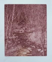 "Landscape, Gillian Pederson-Krag, Etching, AP, 7"" x 9"", 1996"
